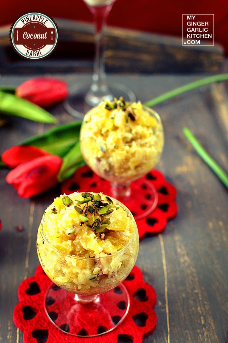 Image - recipe pineapple coconut rabri anupama paliwal my ginger garlic kitchen 2