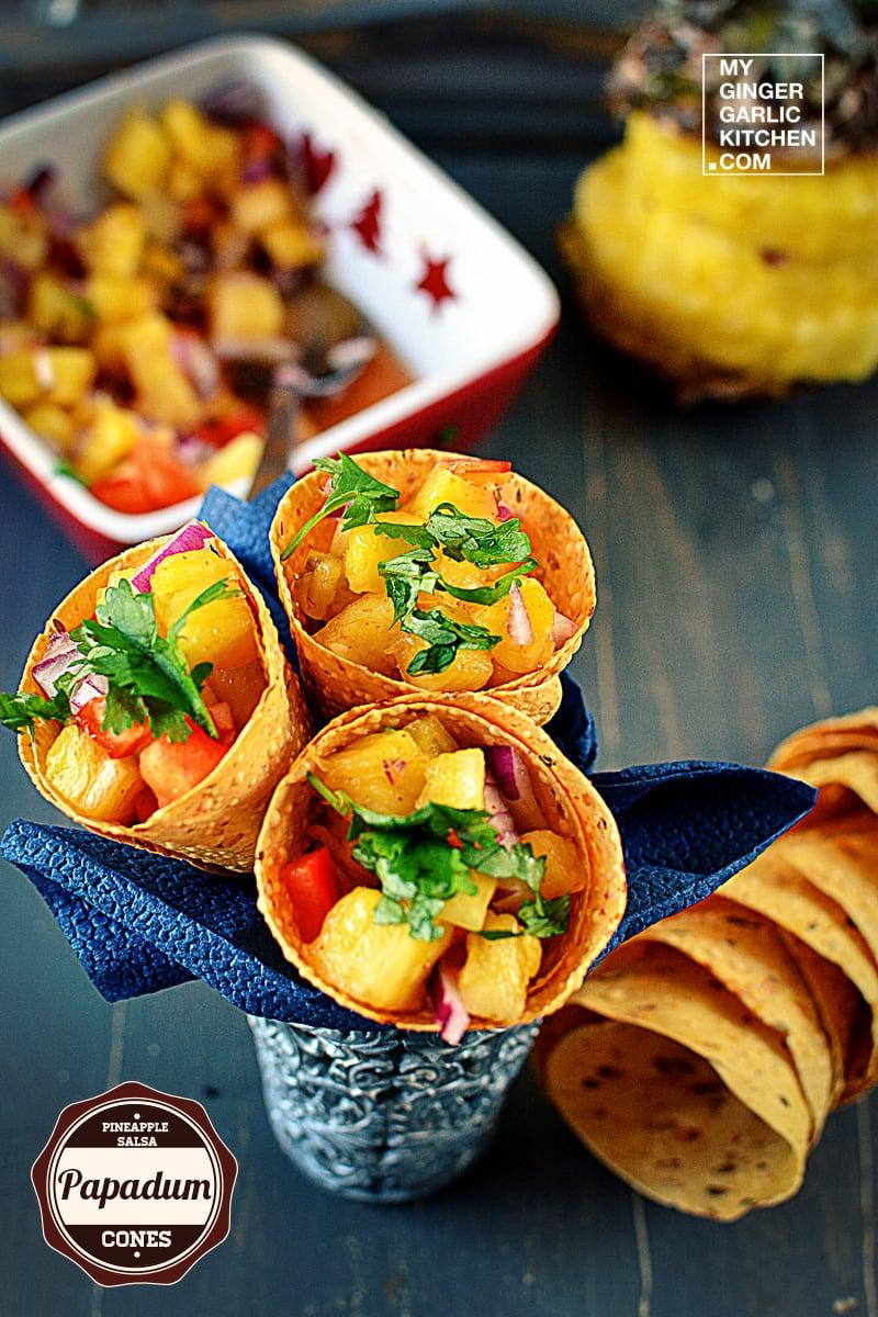 recipe-pineapple-salsa-papadum-cones-anupama-paliwal-my-ginger-garlic-kitchen-2