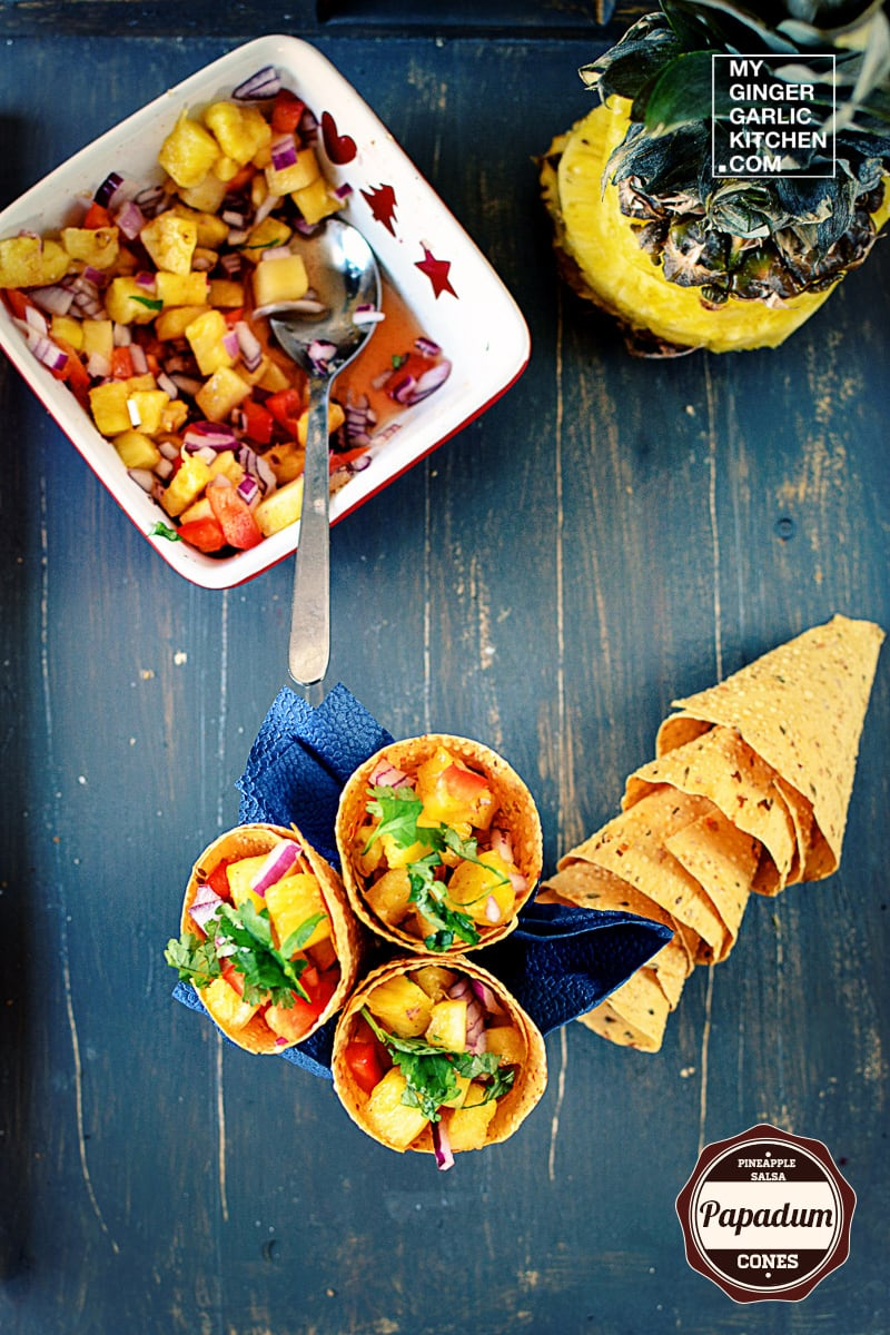 recipe-pineapple-salsa-papadum-cones-anupama-paliwal-my-ginger-garlic-kitchen-5