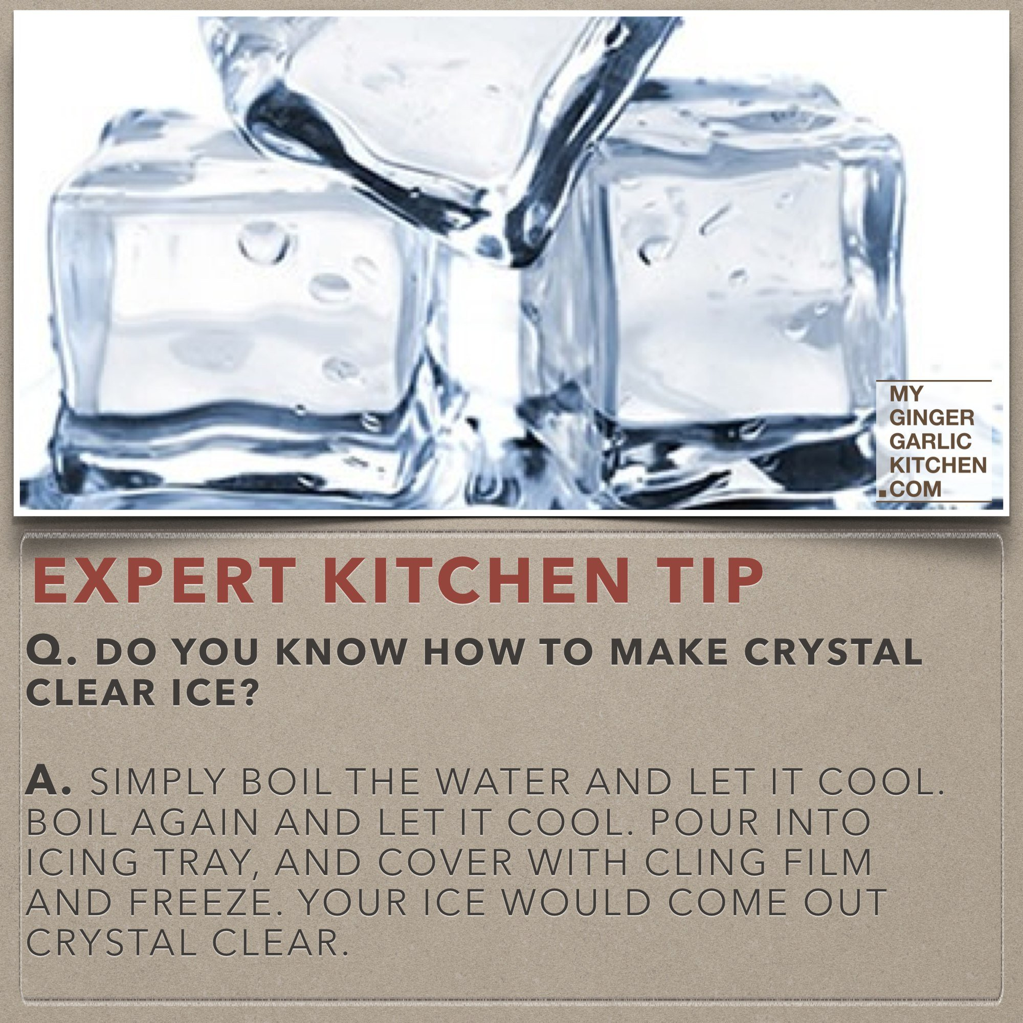 Image of Do you know how to make crystal clear ice – [Kitchen -Tips]