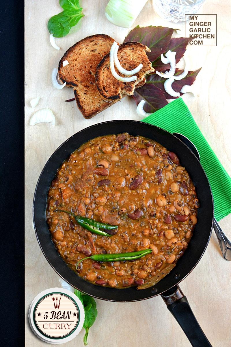 Image - recipe 5 bean curry anupama paliwal my ginger garlic kitchen 1
