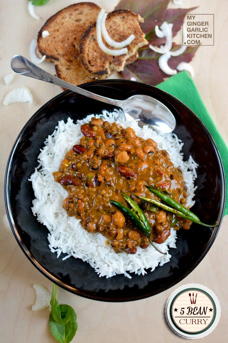 Image of 5 Bean Curry Recipe | How To Make Multi Beans Curry