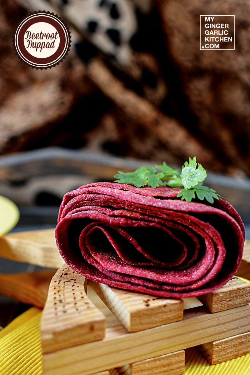 Beetroot Duppad – Beetroot Split Flatbread | mygingergarlickitchen.com/ @anupama_dreams