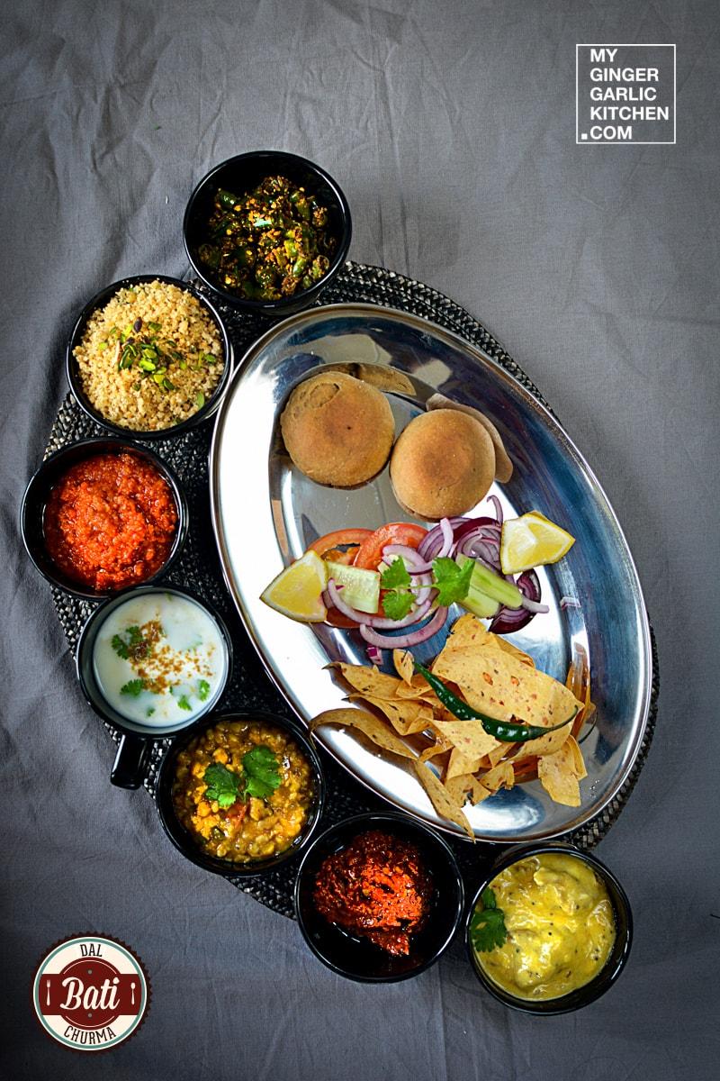 Image - recipe dal bati churma thali anupama paliwal my ginger garlic kitchen 1