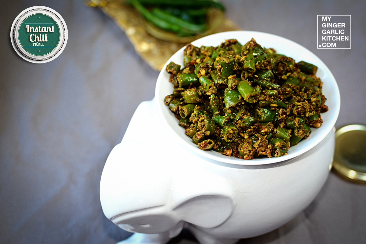Rajasthani Mirchi Ke Tipore | Instanat Chili Pickle | mygingergarlickitchen.com/ @anupama_dreams