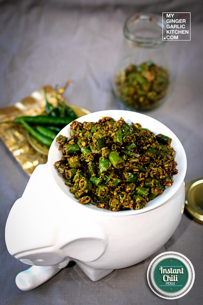 Image - recipe mirchi ke tapore instant chili pickle anupama paliwal my ginger garlic kitchen 5