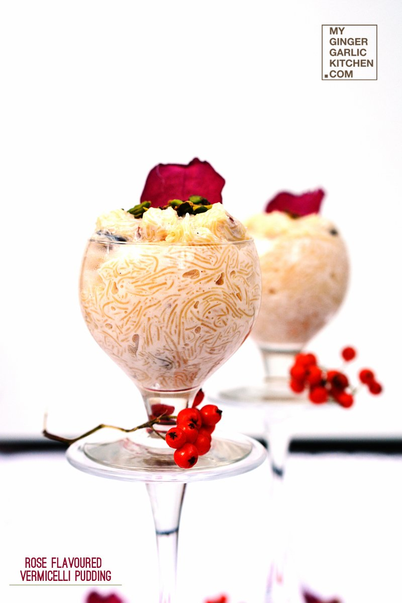 Image of Rose Flavored Vermicelli Pudding | Seviyan Kheer