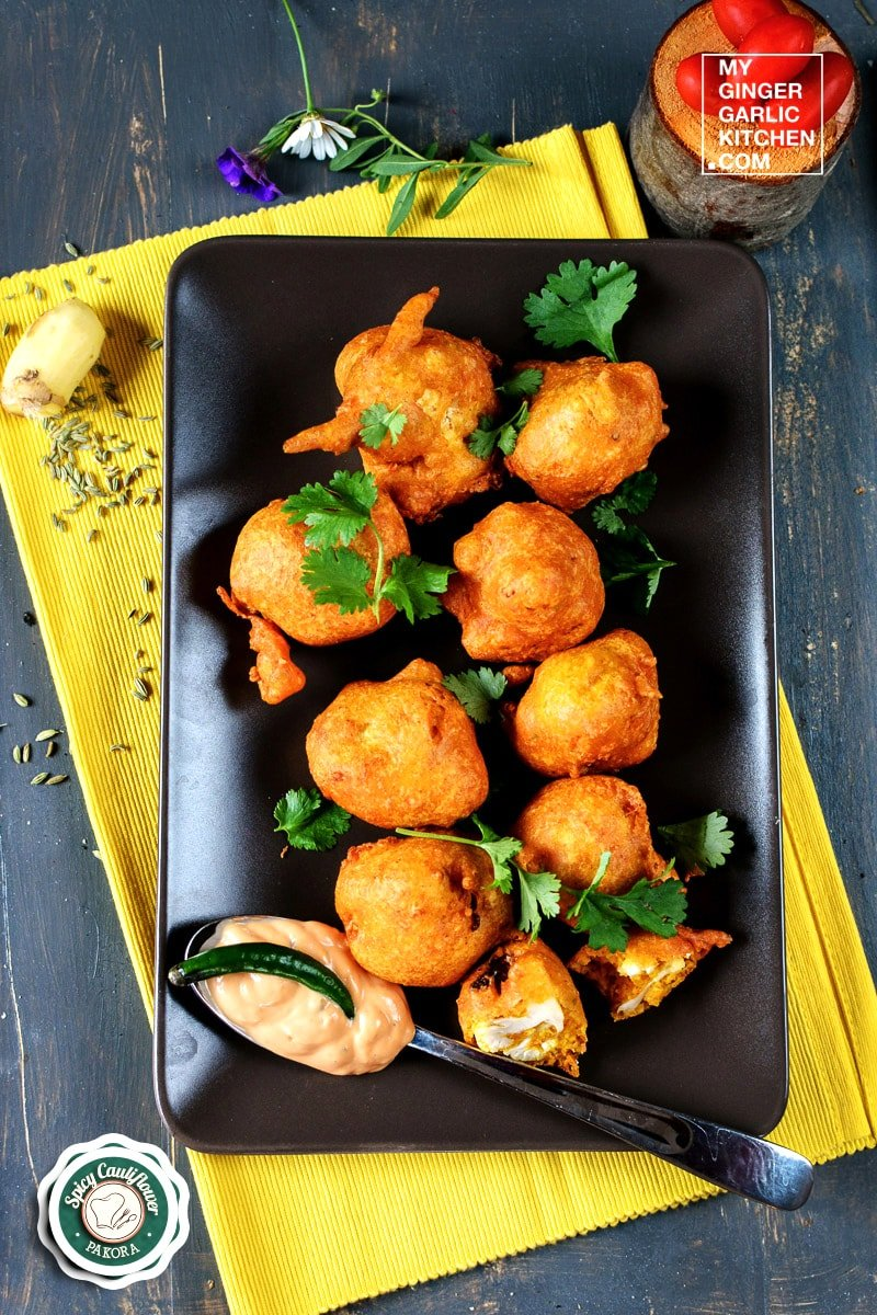 Image of Gobi Pakora – Classic Spicy Cauliflower Pakora – Indian Cauliflower Fritters Recipe