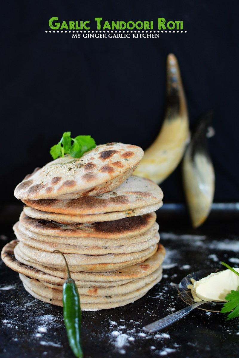 Image of Tandoori Garlic Roti Recipe - How To Make Tandoori Roti