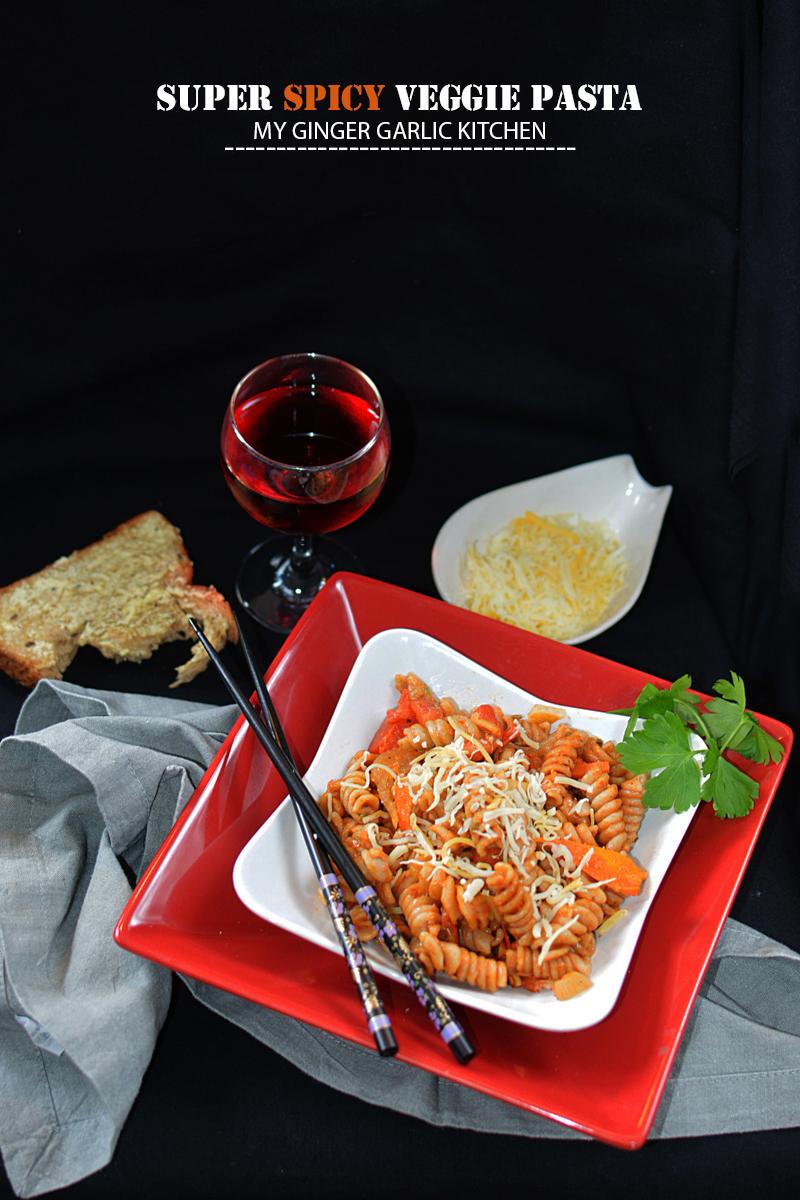 Image - recipe super spicy veggie pasta anupama paliwal my ginger garlic kitchen 6