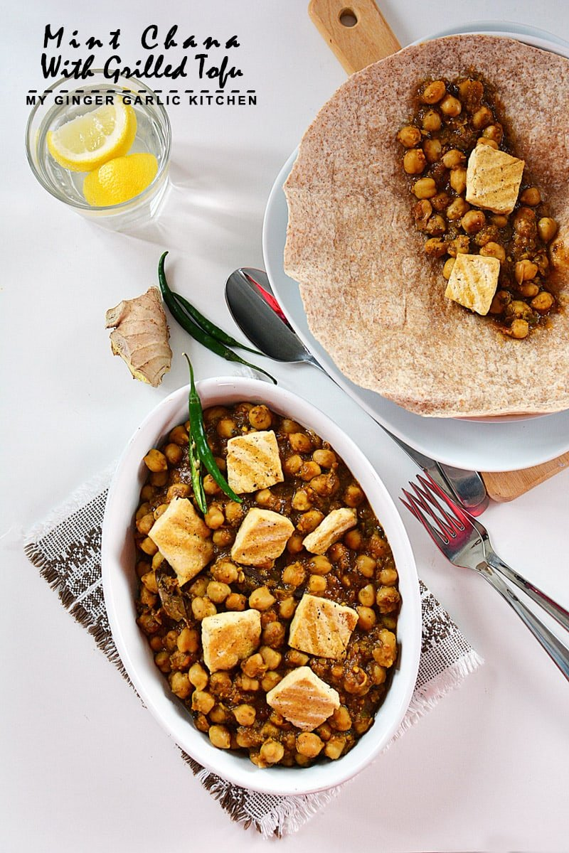 Image of Mint Chana With Grilled Tofu 1
