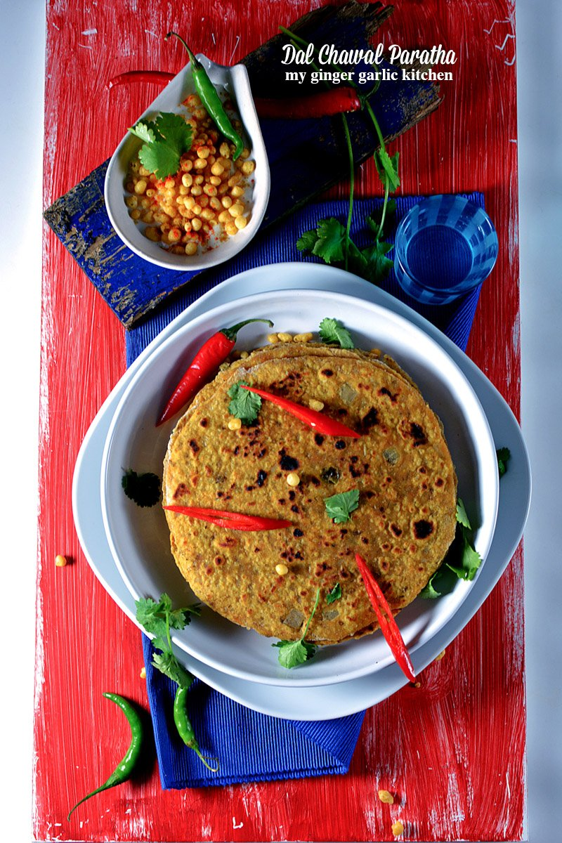 Image of Dal Chawal Paratha Recipe – Rice Lentils Flatbread | How To Make Leftover Dal Chawal Paratha