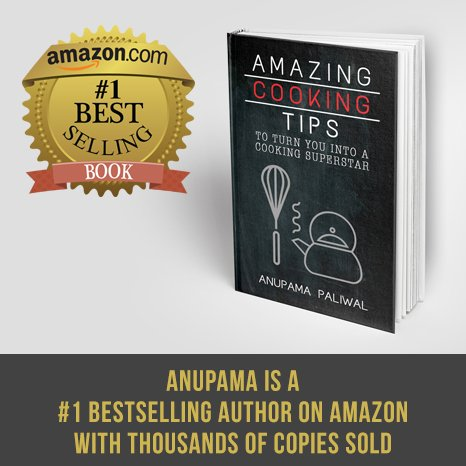 Amazon Number 1 Bestselling Book by Anupama Paliwal | mygingergarlickitchen.com @anupama_dreams