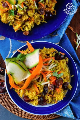 Image of Carrot Zucchini Rice Pilaf Recipe