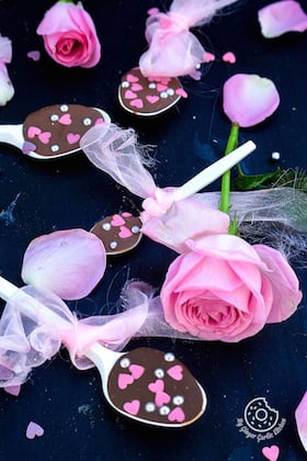Image of Eleventh Hour Chocolate Spoons for Valentine's Day