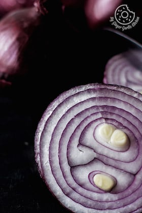 Image of And All Because I Love Red Onions. [Stock Photo]