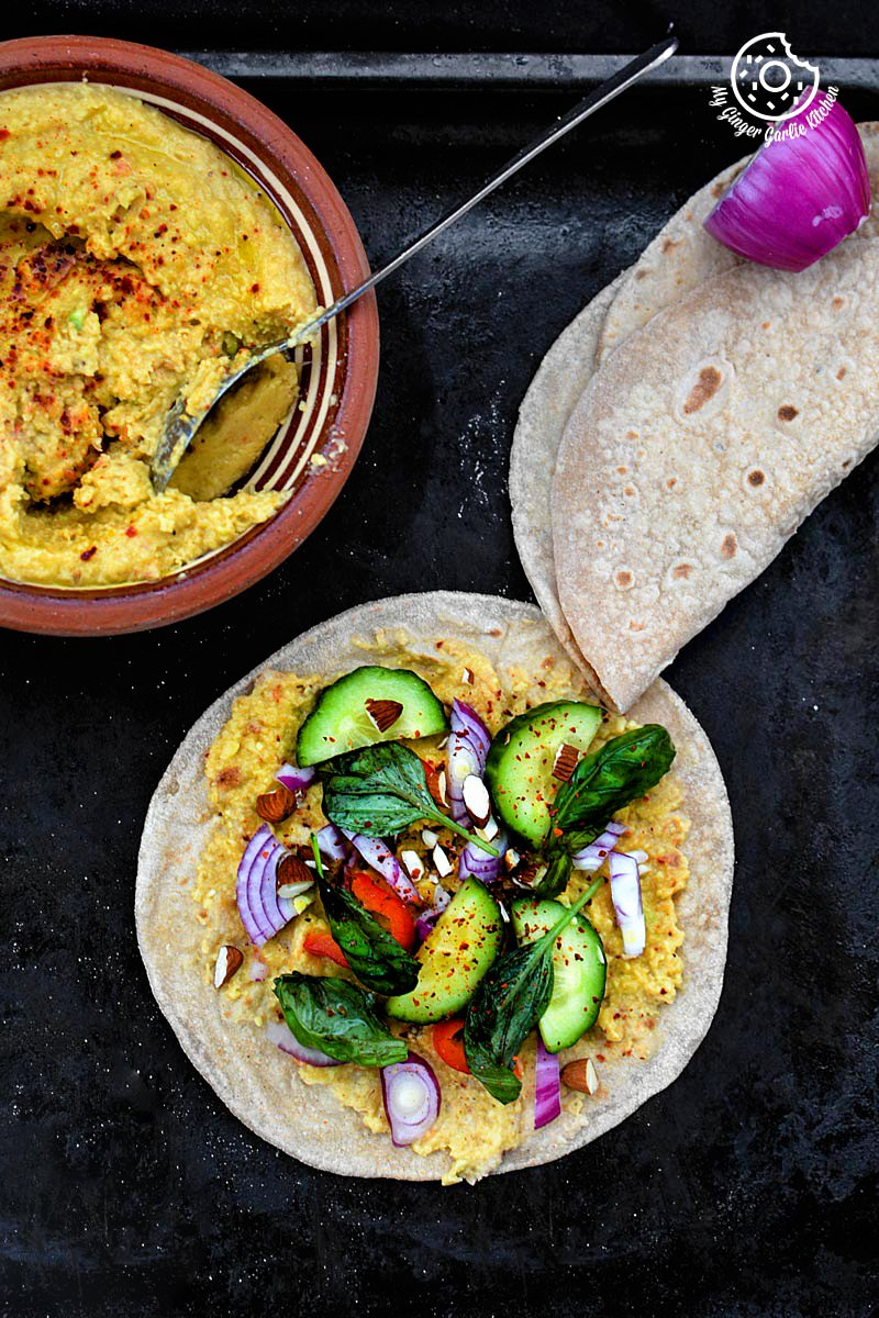Image - recipe Indian chapati with peppery garlicky avacado Spread anupama paliwal my ginger garlic kitchen 61 683x1024
