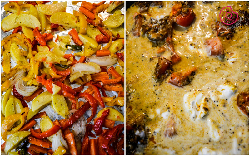 recipe-broccoli-paratha-with-garlic-roasted-veggies-and-spiced-coconut-sauce|mygingergarlickitchen.com/ @anupama_dreams