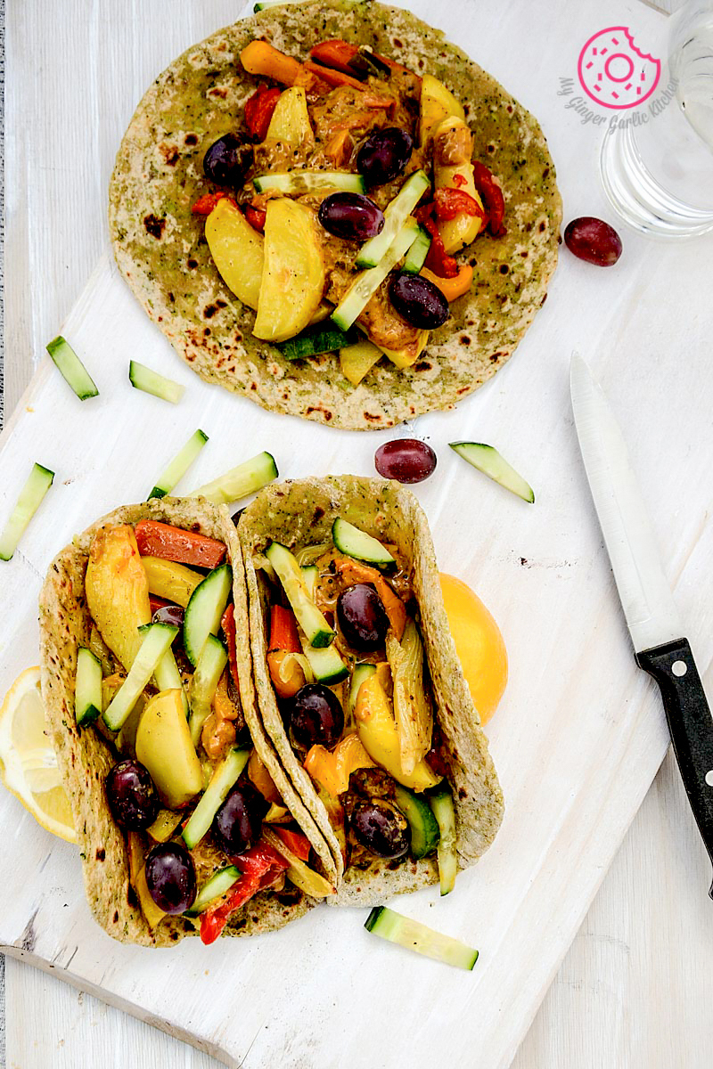 Image - recipe broccoli paratha with garlic roasted veggies and spiced coconut sauce anupama paliwal my ginger garlic kitchen 6 copy1 683x1024
