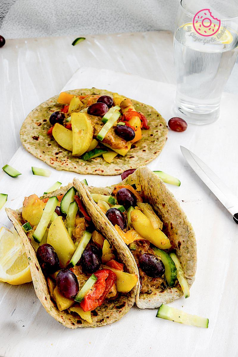 recipe-broccoli-paratha-with-garlic-roasted-veggies-and-spiced-coconut-sauce mygingergarlickitchen.com/ @anupama_dreams