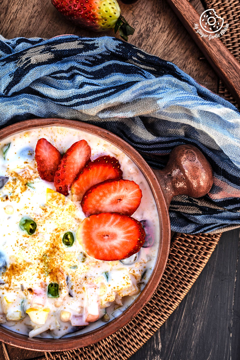 ruity-veggie-boondi-raita-gram-flour-puffs-fruity-dip|mygingergarlickitchen.com/ @anupama_dreams