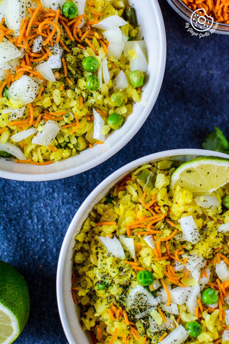 recipe-khatta-meetha-indori-poha mygingergarlickitchen.com/ @anupama_dreams