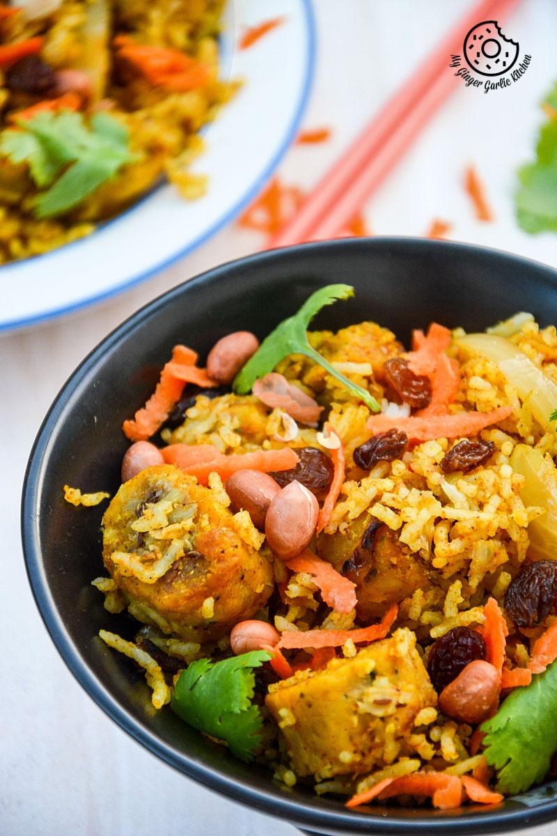 recipe-rajasthani-gatta-pulav|mygingergarlickitchen.com/ @anupama_dreams