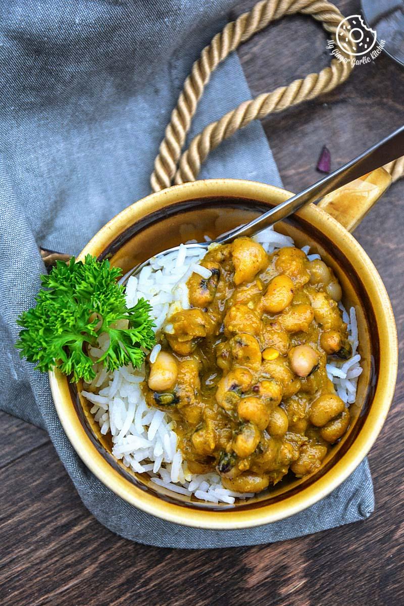 recipe-Black-Eyed-Pea-Curry-in-Pepper-Onion-Gravy|mygingergarlickitchen.com/ @anupama_dreams