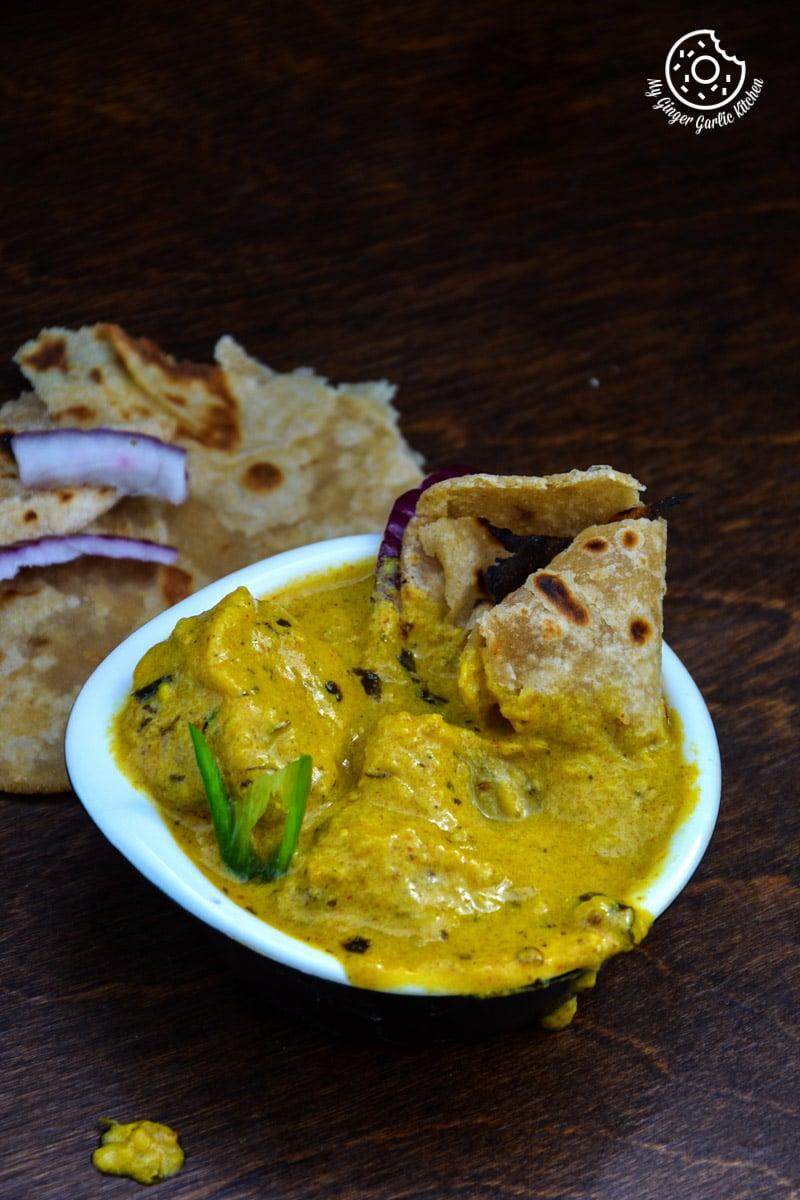 recipe-besan-gatta-curry mygingergarlickitchen.com/ @anupama_dreams