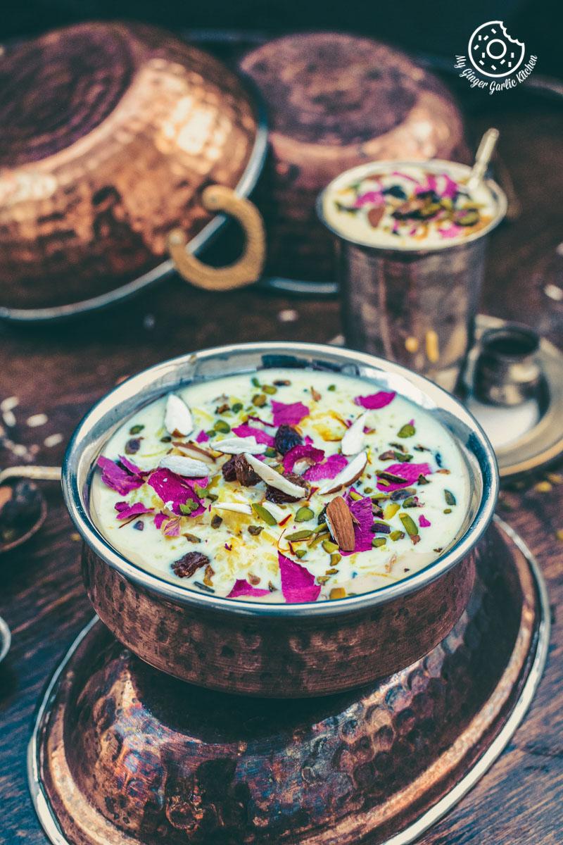 Kesari Rice Kheer | mygingergarlickitchen.com/ @anupama_dreams
