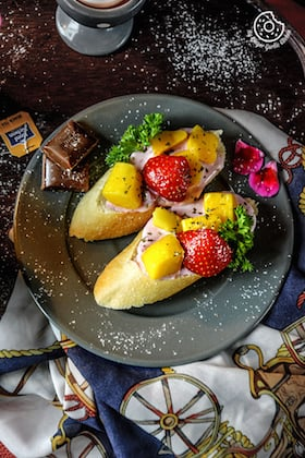 Tropical Bruschetta Recipe | Tropical Bruschetta with Berry Yogurt Cheese