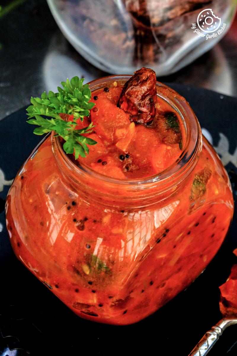 tomato-mustard-garlic-chutney mygingergarlickitchen.com/ @anupama_dreams