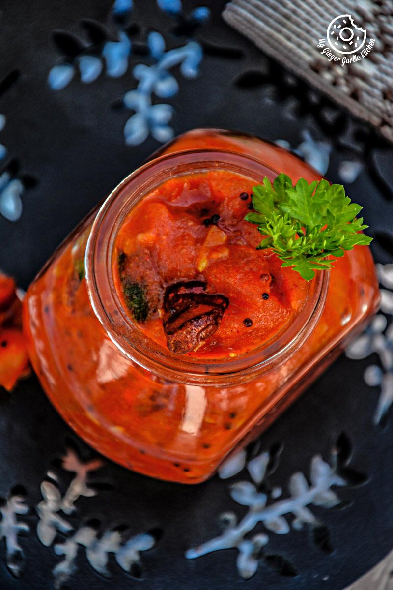 -tomato-mustard-garlic-chutney mygingergarlickitchen.com/ @anupama_dreams