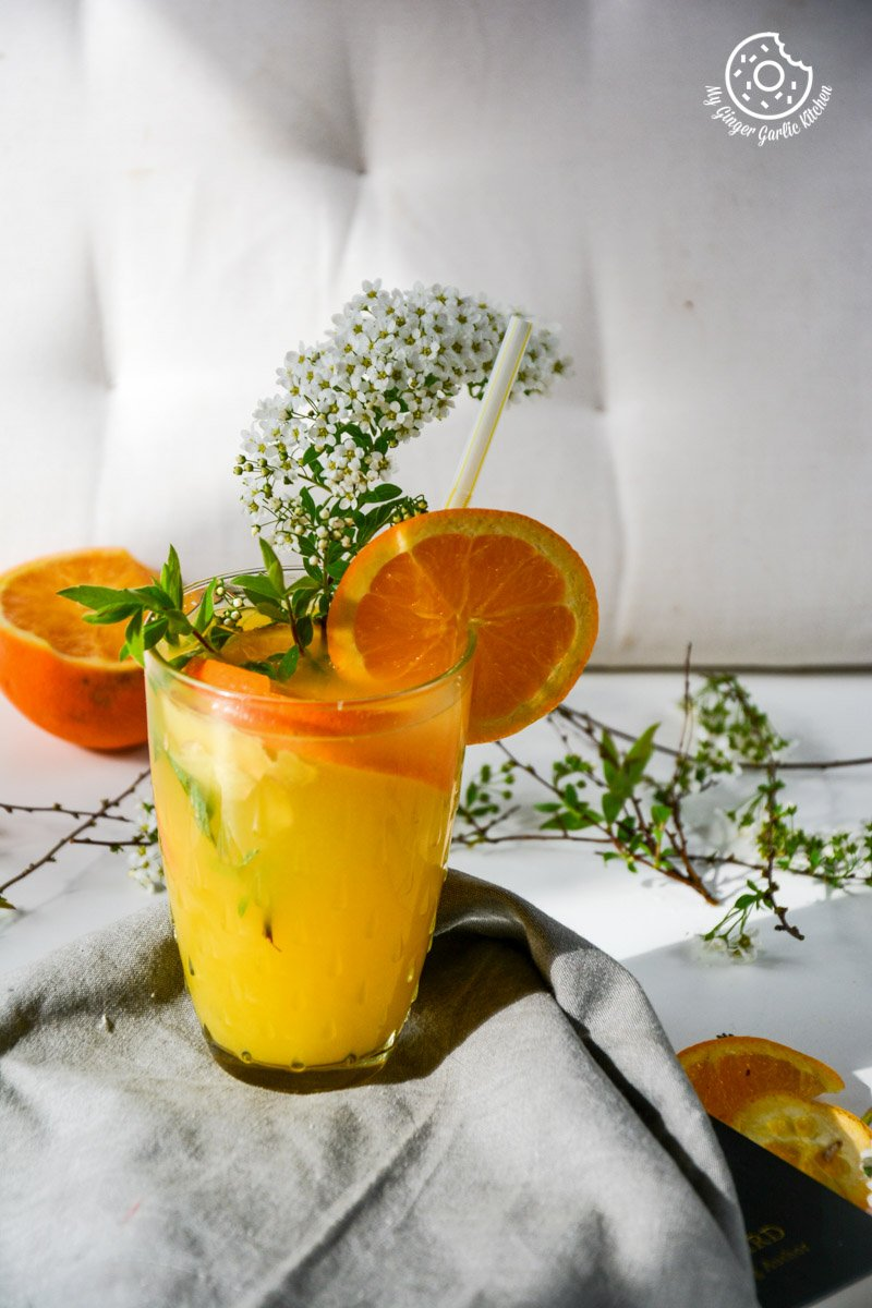 recipe-virgin-ginger-mimosa|mygingergarlickitchen.com/ @anupama_dreams