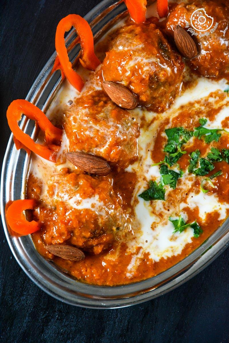 recipe-baked-mushroom-spinach-kofta-curry |mygingergarlickitchen.com/ @anupama_dreams