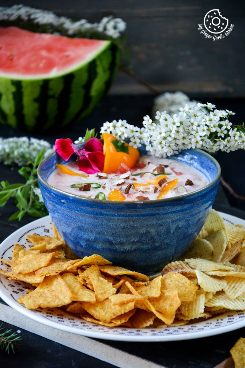 watermelon-onion-dip-for-chips mygingergarlickitchen.com/ @anupama_dreams