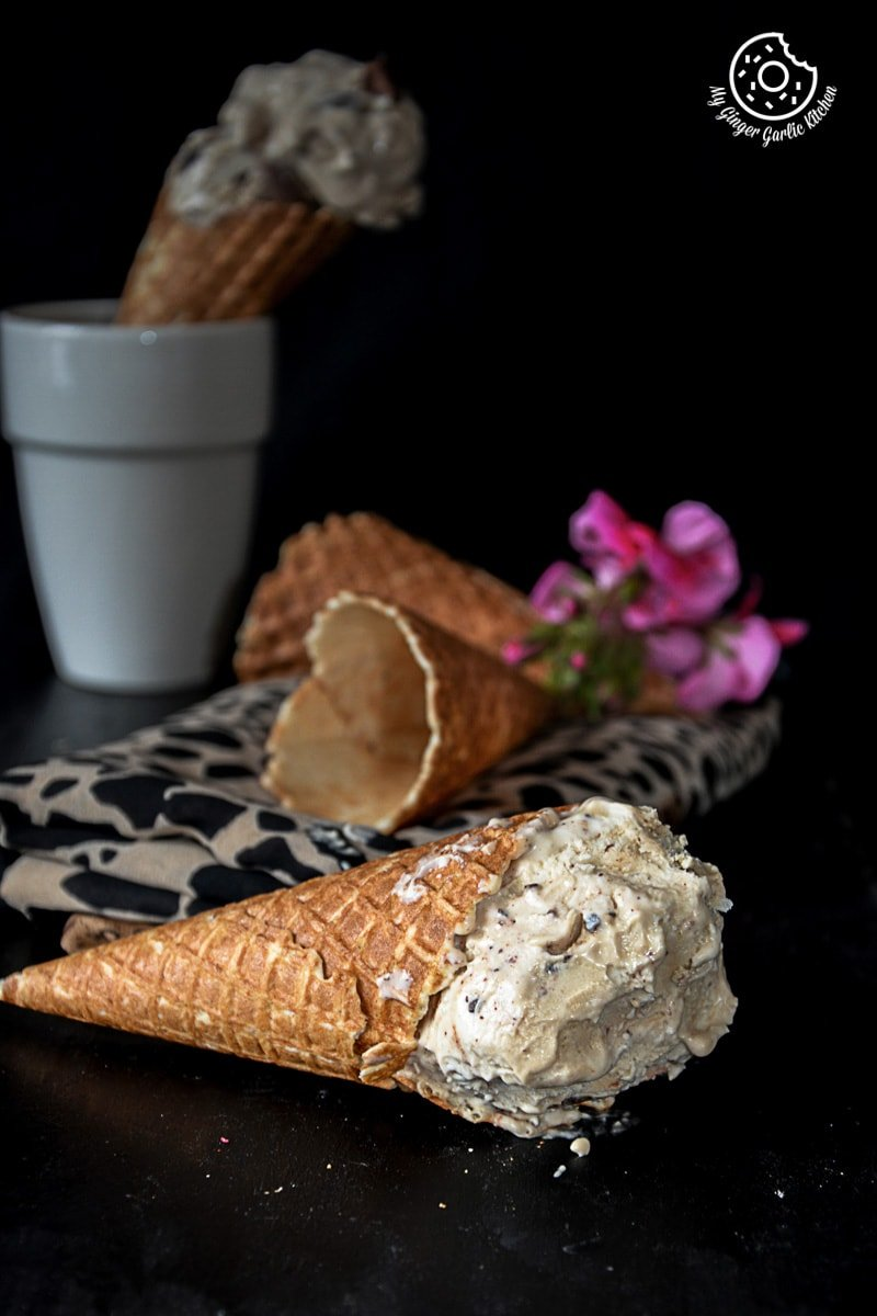 recipe-creamy-coconut-coffee-chocolate-chunk-ice-cream|mygingergarlickitchen.com/ @anupama_dreams
