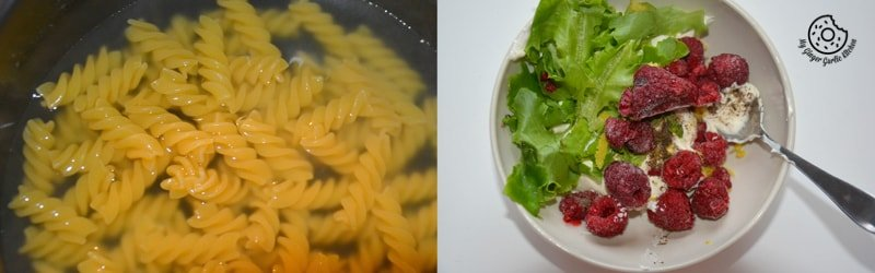 recipe-creme-fraiche-raspberry-peas-pasta mygingergarlickitchen.com/ @anupama_dreams