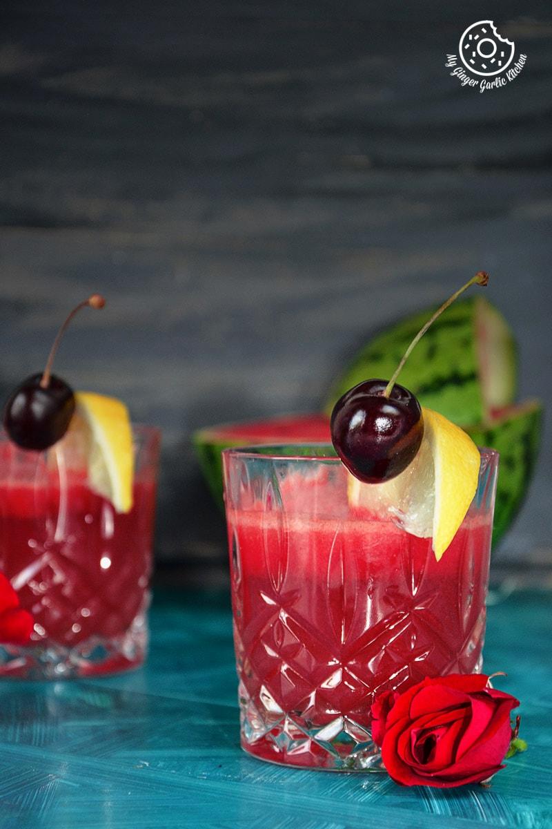 green tea watermelon detox smoothie|mygingergarlickitchen.com/ @anupama_dreams