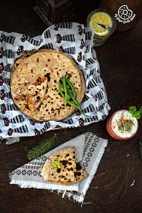Image of Pepper Onion Potato Paratha