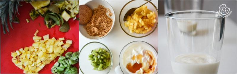 recipe-quick-and-easy-pineapple-kiwi-honey-yogurt-parfait|mygingergarlickitchen.com/ @anupama_dreams
