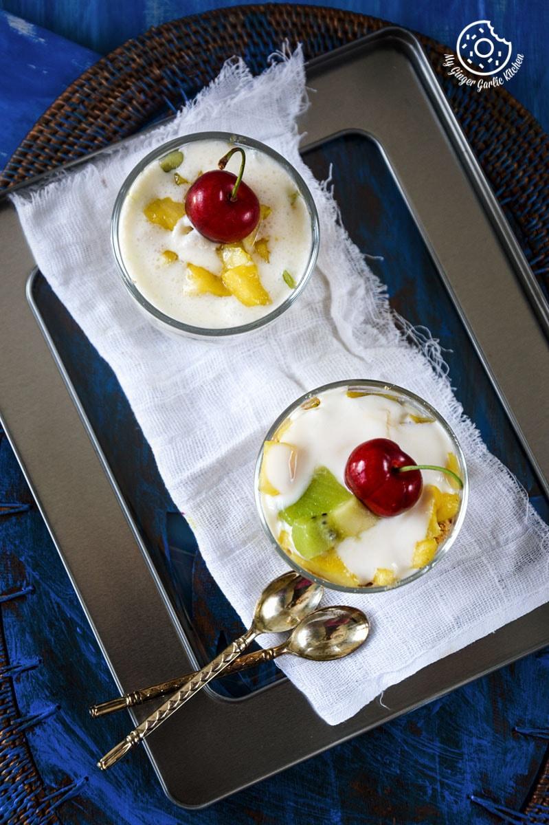 recipe-quick-and-easy-pineapple-kiwi-honey-yogurt-parfait|mygingergarlickitchen.com/ @anupama_dreams