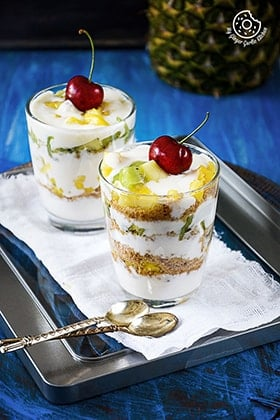 Image of Quick and Easy Kiwi Pineapple Honey Yogurt Parfait