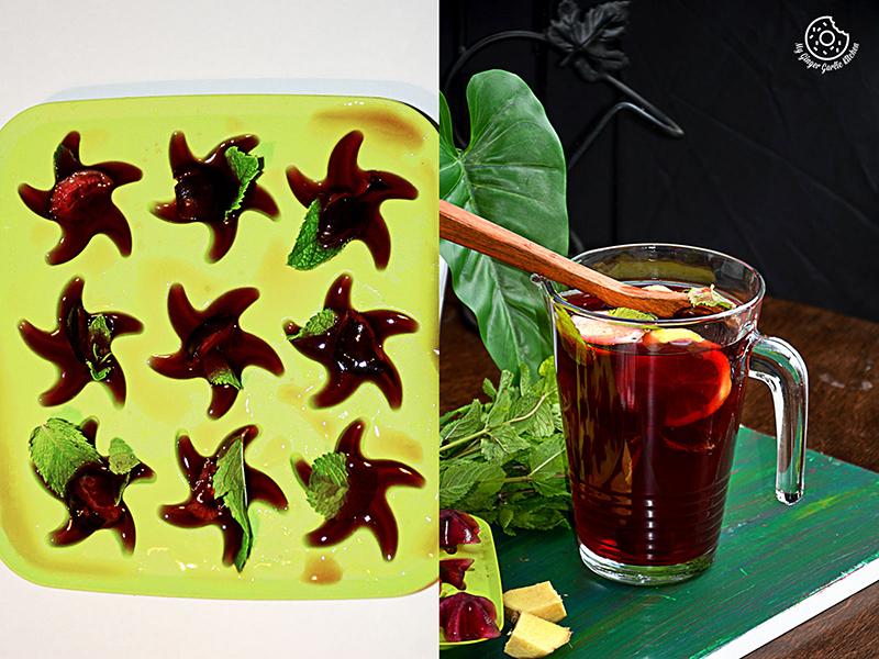 recipe-cherry-iced-tea-with-lemon-mint-ginger-and-honey||mygingergarlickitchen.com/ @anupama_dreams