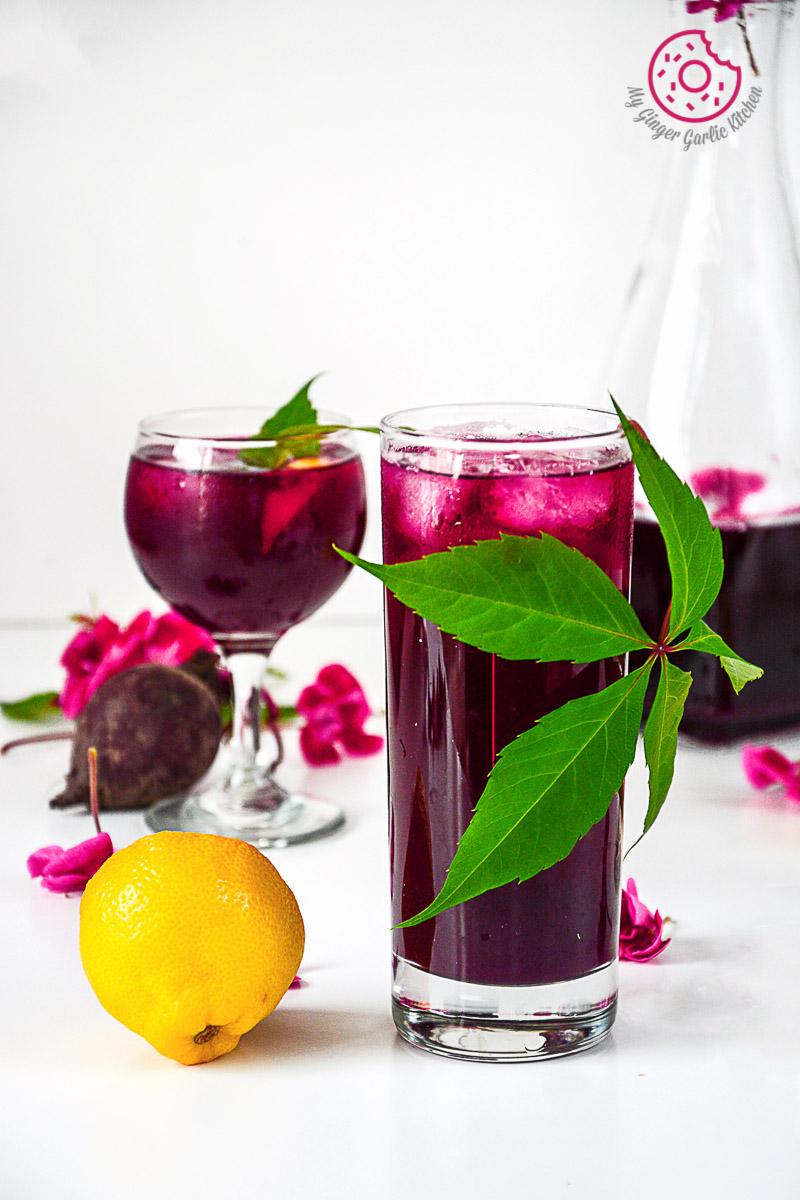 recipe-beet-lemonade mygingergarlickitchen.com/ @anupama_dreams