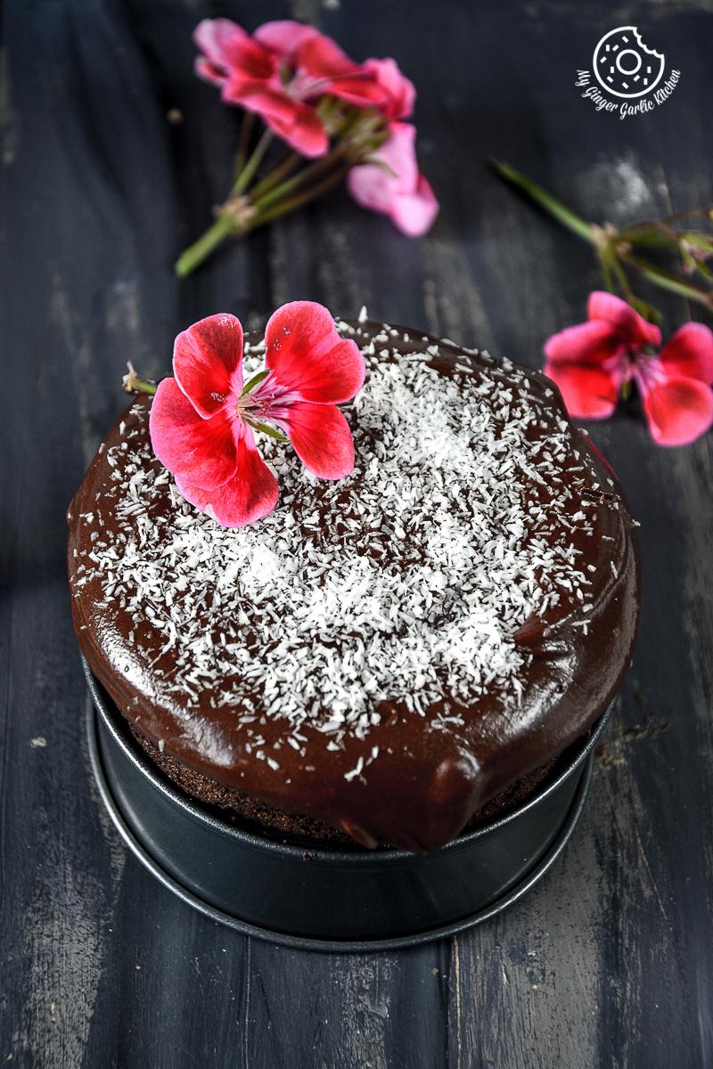 Chocolate beet cake with coffee
