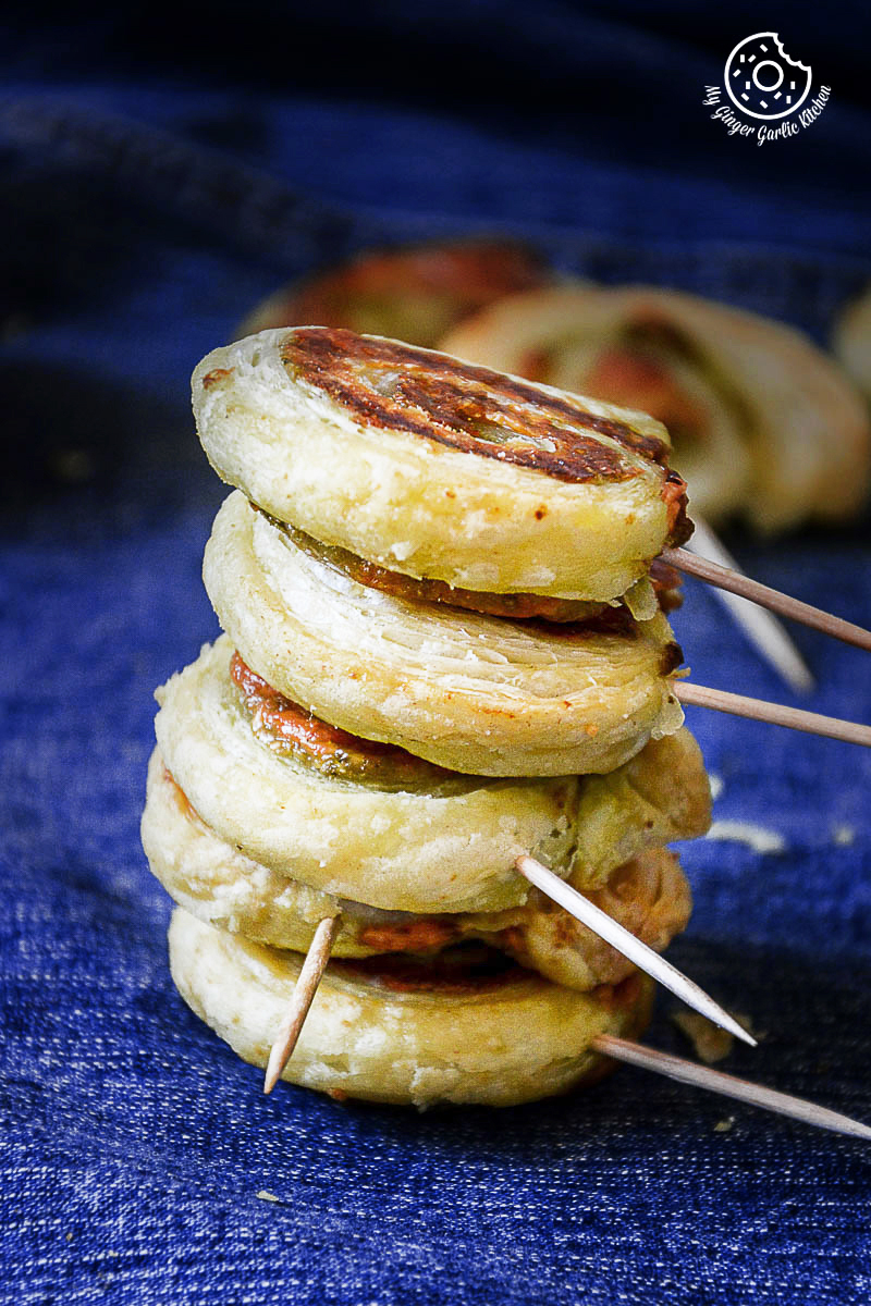 Image - recipe cheesy garlicky pesto puffa pastry swirls anupama paliwal my ginger garlic kitchen 2 683x1024
