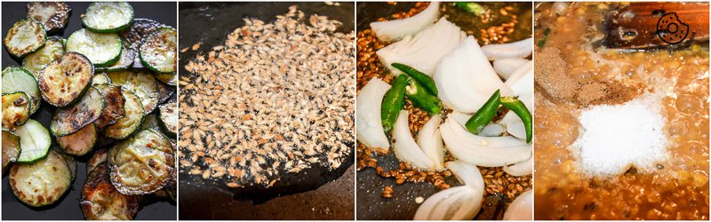 recipe-recipe-roasted-zucchini-garlic-with-spiced-split-bengal-gram|mygingergarlickitchen.com/ @anupama_dreams