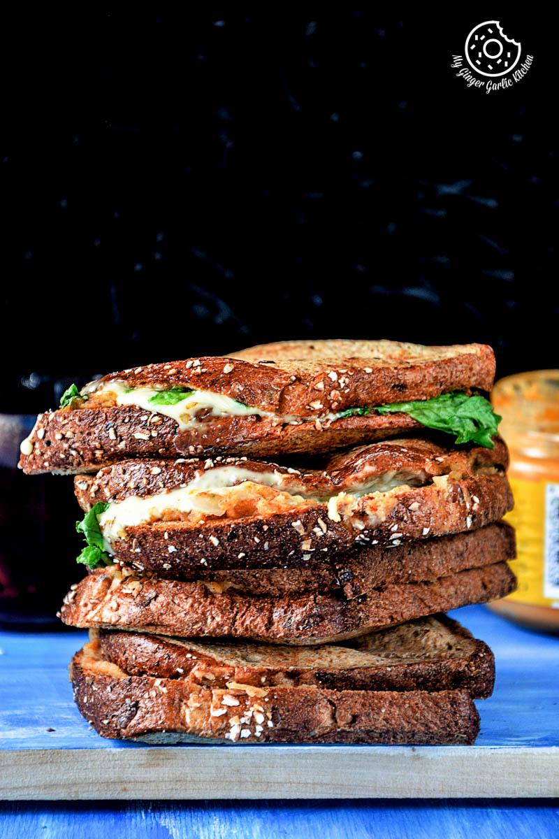 Image - recipe spiced potato cheese sandwich with Cheese anupama paliwal my ginger garlic kitchen 4 683x1024