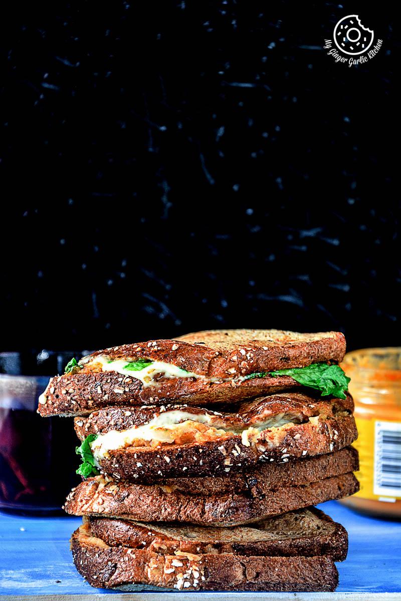 Image - recipe spiced potato cheese sandwich with Cheese anupama paliwal my ginger garlic kitchen 5 683x1024